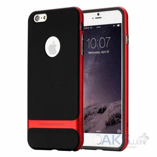 Чехол Rock Royce Series Apple iPhone 5, iPhone 5S, iPhone 5SE Black - Red