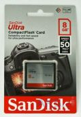 Карта памяти SanDisk 8GB Compact Flash Ultra (50MB/s) (SDCFHS-008G-G46)
