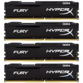 Оперативна пам'ять Kingston DDR4 32GB (4x8GB) 2400 MHz HyperX FURY Black (HX424C15FB2K4/32)