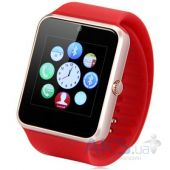 Умные часы UWatch Smart GT08 Silver with Red strap