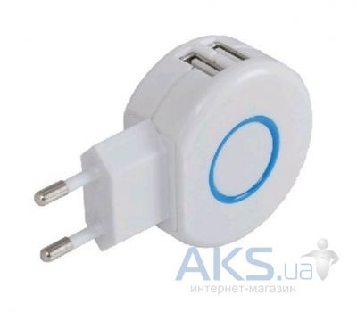 Зарядка для планшета ReDoT Travel Adapter Dual USB (5v 3000mAh) (151642) Whte