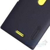 Вид 4 - Чехол Nillkin Super Frosted Shield Nokia Asha 502 Black