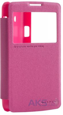 Чехол Nillkin Sparkle Leather Series LG Optimus L60 X145 Red