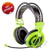 Вид 5 - Наушники (гарнитура) E-blue Cobra HS Gaming Headset Green (EHS013GR)