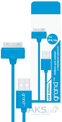 Кабель USB Grand Dock Series for Apple Blue