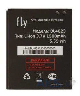 Аккумулятор Fly IQ237 Dynamic / BL4023 (1500 mAh) Original