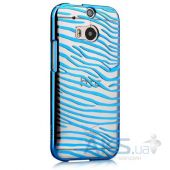 Чехол Vouni Glimmer Zebra для HTC One M8 Blue