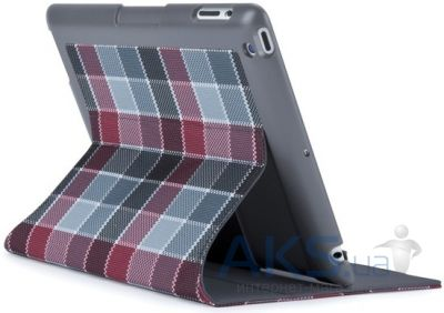 Чехол для планшета Speck iPad 3/4 FitFolio HalfTone Plaid Grey/Red Core (SPK-A1731)