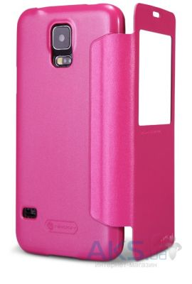 Чехол Nillkin Sparkle Leather Series Samsung G900 Galaxy S5 Pink