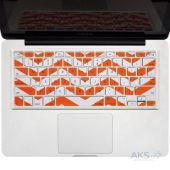 "Накладка на клавиатуру Kuzy Chevron Colors Finish Silicone Keyboard Cover for 13"" 15"" 17"" Orange"