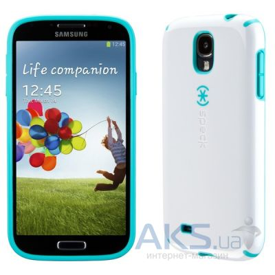 Чехол Speck for Samsung I9500 Galaxy S4 CandyShell White/Caribbean Blue (SPK-A2054)