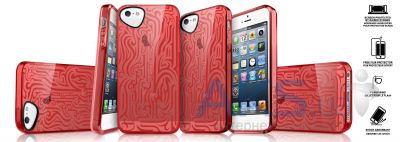 Чехол ITSkins Ink Cover Case for iPhone 5C Red (APNP-NEINK-REDD)