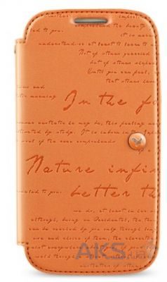 Чехол Zenus Masstige Lettering Diary Series Samsung i9500 Galaxy S4 Orange