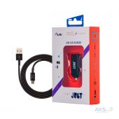 Вид 2 - Зарядное устройство JUST Me2 USB Car Charger 2.4A + micro USB Cable Black (CCHRGR-M2MUSB-BLCK)