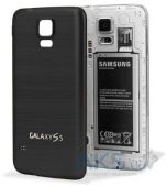 Задняя часть корпуса (крышка аккумулятора) Samsung SM-G900F Galaxy S5 / SM-G900H Galaxy S5 Aluminum Replacement Exclusive Black