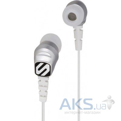 Наушники (гарнитура) Scosche Noise Isolation Sport Earbuds thudBUDS HP200S Silver