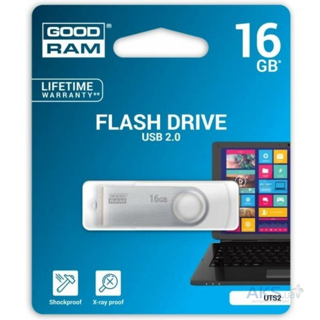 Флешка GooDRam 16GB Twister USB 2.0 (UTS2-0160W0R11) White