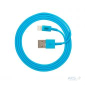 Вид 3 - Кабель USB JUST Simple Lightning USB Cable Blue (LGTNG-SMP10-BLUE)