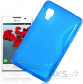 Вид 3 - Чехол Original TPU Duotone LG Optimus L4 ll E440 Blue