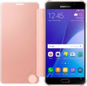 Вид 2 - Чехол Samsung Clear View Cover Series A710 Galaxy A7 2016 Rose Gold (EF-ZA710CZEGRU)