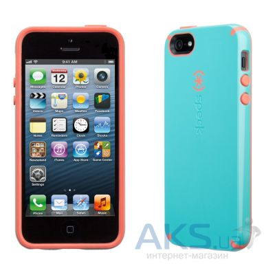 Чехол Speck CandyShell Apple iPhone 5, iPhone 5S, iPhone 5SE Pool Blue/Wild Salmon Pink (SPK-A1564)