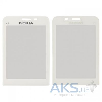 Стекло для Nokia C5-00 Original White