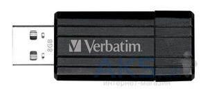 Флешка Verbatim Pin Stripe 8Gb (49062) Black