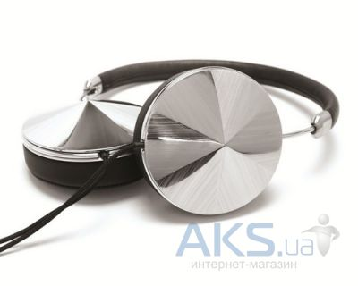 Наушники (гарнитура) Frends Layla On-Ear Headphones Leather Black/Silver