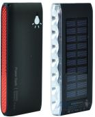 Внешний аккумулятор power bank MANGO Solar LED SIDE 2USB 10000 mAh Black-red