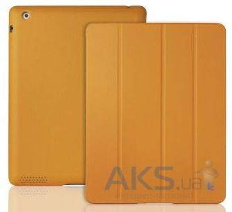 Чехол для планшета JisonCase Executive Smart Cover for iPad 4/3/2 Yellow/Orange (JS-IPD-06H80)