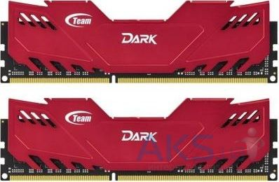 Оперативная память Team DDR-3 8GB (2x4GB) 1600 MHz Dark Series Red (TDRED38G1600HC9DC01)