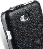 Вид 3 - Чехол Melkco Jacka Leather Case for LG L70 Black (LGDS70LCJT1BKPULC)