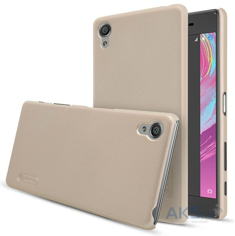 Чехол Nillkin Super Frosted Shield Sony Xperia X, Xperia X Dual Gold