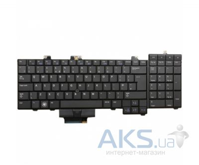 Клавиатура для ноутбука Dell Precision M6400. RU, With point stick, (0D119R) Black