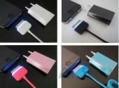 Кабель USB LED USB Dock Cable for iPhone 4 Black