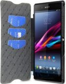 Вид 4 - Чехол Melkco Book Leather Case for Sony Xperia Z Ultra C6802 Black (SEXPZULCFB4BKLC)