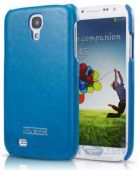 Чехол iCarer for Samsung I9500 Galaxy S4 Oil Wax Back Cover Blue (RS950005BU)