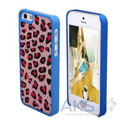 Чехол PINK Leopard Case for iPhone 5/5S Blue (VS-LPRD-BLUE)
