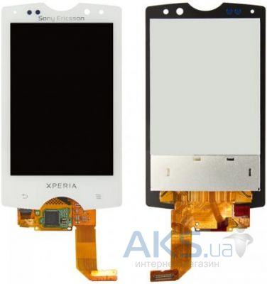 Дисплей (экраны) для телефона Sony Ericsson Xperia Mini Pro SK17i + Touchscreen Original White