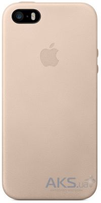 Чехол Apple High Copy Leather Case iPhone 5, iPhone 5S, iPhone SE Beige (MF042_HC)