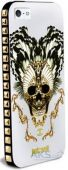Чехол PURO JUST CAVALLI Skull Apple iPhone 5, iPhone 5S, iPhone 5SE White (JCIPC5SKULLWHI)