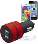 Вид 2 - Зарядное устройство Trust Urban Revolt DUAL SMART CAR CHARGER (1A/1A) Red