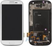 Дисплей (экраны) для телефона Samsung Galaxy S3 I9300 + Touchscreen with frame Original White