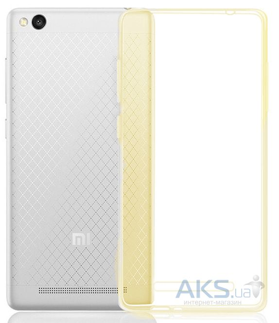 Чехол MSVII TPU Series Xiaomi Redmi 3 +Tempered Glass Gold