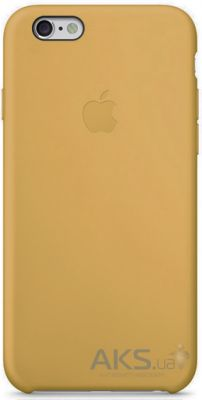 Чехол Apple Leather Case for iPhone 6 Plus Gold (Hight copy)
