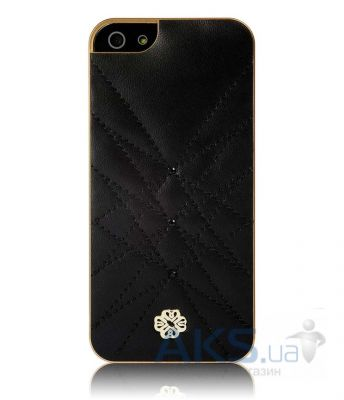 Чехол UUnique Luxury Nappa Leather Hard Shell with Crystals Apple iPhone 5, iPhone 5S, iPhone 5SE Black