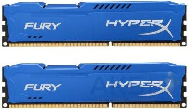 Оперативная память Kingston DDR3 8Gb (2x4GB) 1866 MHz HyperX Fury Blu (HX318C10FK2/8)