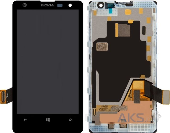 Дисплей (экран) для телефона Nokia Lumia 1020 + Touchscreen with frame Original Black