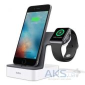 Док-станция Belkin PowerHouse iWatch + iPhone Silver (F8J200vfWHT)