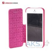 Вид 5 - Чехол Hoco Duke book leather case for iPhone 5C Rose Red (HI-L042)